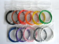 13m 1/0.6mm Equipment Wire Pack - 22 - 23 AWG* - 11 Colours - Single Solid Core