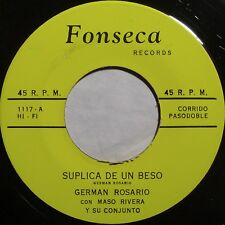 GERMAN ROSARIO: LATIN 45 on FONSECA very rare JIBARO dominican HEAR IT!