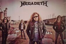 "MEGADETH ""GROUP STANDING IN TRAIN YARD"" POSTER FROM ASIA - Heavy Metal Music"