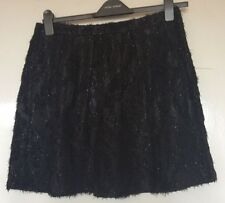 TOPSHOP, SIZE 14, EUR 42, BLACK MINI/SHORT TEXTURED BUBBLE SKIRT, NWOT, SEXY