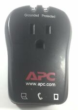 Genuine APC P1T PORTABLE PLUG IN SURGE PROTECTOR 2 OUTLETS 1 INLET W/LINES