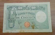 Banconota Italiana Da Collezione Lire Cinquanta Grande Matrice Epoca Fascio Vai