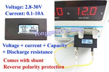Lithium Li-ion Battery Tester Meter Voltage Current Capacity Resistance