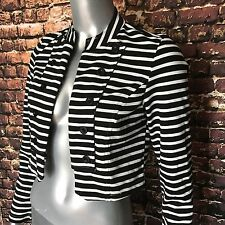 Poetry Clothing Jacket Striped Womens Small Black White Sailor Military Grunge S