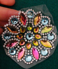 2 rhinestone applique patch iron on glass crystal hotfix dancing fancy dress-06