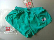 NIKE size M running ATHLETIC GREEN shorts nylon lightweight  NEW vintage