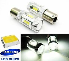 2x SAMSUNG 15 SMD LED 1156 P21W BA15s Projector Brake Light Bulb White For BMW
