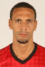 Football Photo RIO FERDINAND Man Utd 2012-2013