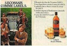 PUBLICITE  1982   LABEL 5 whisky (2 pages)