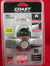 Coast HL6 LED Headlamp with Dimmer with Focusable Function Light