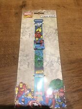 Marvel Comics Paper Watch Iron Man & Incredible Hulk Spider-Man Fully Working