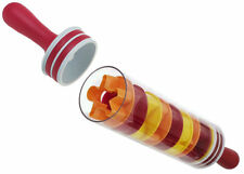 ROLL & STORE ROLLING PIN with 9 Cookie Cutters incl - hollow, can fill with ice