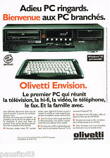 PUBLICITE ADVERTISING 065  1995  OLIVETTI   le PC ENVISION