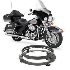"7"" Black Motor LED Headlight Mounting Ring For Harley Davidson Touring 1994-2013"