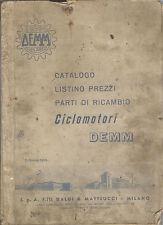 DEMM CATALOGO RICAMBI 49 2 TEMPI E 4 TEMPI SPORT SPECIAL VOLOMATIC 1965