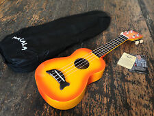 Makala Orange Burst Soprano Dolphin Ukulele Uke Fitted With Aquila Strings