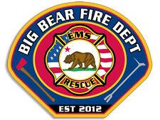 3x4 inch Big Bear Fire Department Sticker -firefighter decal car bumper window