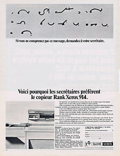 PUBLICITE ADVERTISING 094 1967 RANK XEROS 914 copieur