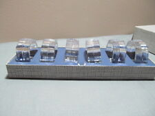 Vintage Napkin Rings Crystal Glass Six West Germany