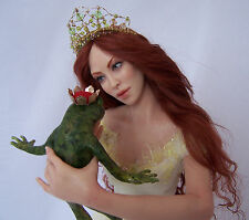 OOAK (One of a Kind) Frog Prince and Princess  Sculpture,  by PGM Sculpting