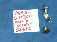 Singer 127 128 15 66 99 201 sewing machine straight stitch foot and screw 32666
