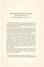 BOUCHEREAU Docteur - LES HOMMES FOSSILES DE DENISE PRES LE PUY HAUTE-LOIRE 1930