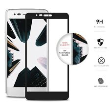 Full Covered Tempered Glass Film Screen for LG Aristo / LV3 MS210 - Black