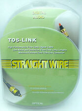 Straightwire TOS-Link Digtial Optical Toslink Cable 1 Meter NEW