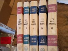 Maurice Druon 5 Books of Les Rois Maudits 1,2,3,4 and 6, Vol 5 Missing French