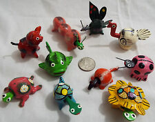 Lot of 10 Assorted Bobble Head Animals Various Colors Butterfly Pig Mouse Fish