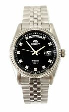 """NWT Orient """"Oyster"""" Sapphire Classic Automatic Watch Black Dial CEV0J003B"""