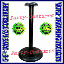 Wooden Helmet Stand Display Stand for Medieval Helmets - Foldable Black Stand ac