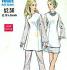 Vintage VOGUE 60s 70s EVENING / WEDDING PANTSUIT / DRESS Sewing Pattern Bust 34""