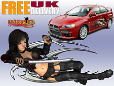 Pair of Full Colour Japanese Car Decals/ Vinyl Graphics - Free Delivery!