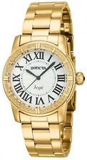 New Womens Invicta 14717 Angle Royale Diamond Accented Gold Tone Bracelet Watch