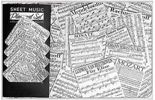 Sheet Music Placemats and Coasters Set of 4 (8618)