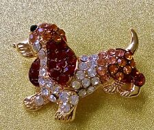 Dachshund Jewelry Swarovski Elements Crystal pin brooch #dachshund Такса Doxi US