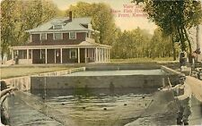 1914 View at State Fish Farm, Pratt, Kansas Postcard