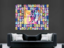 MY LITTLE PONY Collage Bambini Muro Art Immagine grande POSTER GIGANTE