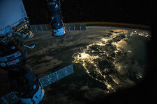 Framed Print - Night Light of Earth from ISS (Picture Space Galaxy Universe)