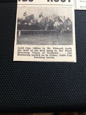 49300 Ephemera 1936 Small Picture Horse Gold Cup Edmond Sandown Horse Race 1936