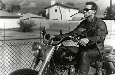Living room home decoration fabric poster Arnold Schwarzenegger motorcycle