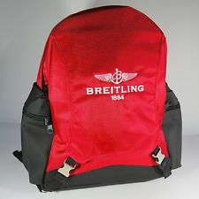 Breitling Luxury Red And Black Backpack Bag Very Rare 2017