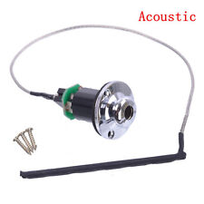 Acoustic Guitar Piezo Pickup Under Saddle Output End Pin Jack