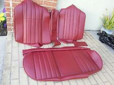 BMW E28 528I 535i M5 REAR SEAT KIT GERMAN VINYL CLASSIC RED UPHOLSTERY KIT NEW