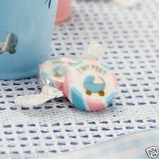 New baby shower christening party tiny feet pink & blue 50 rock sweets favours