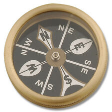 MARBLES Brass Large Pocket COMPASS - MR223 - New in Package