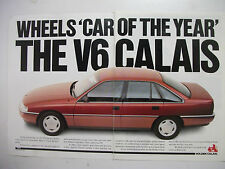 HOLDEN 1989 VN V6 CALAIS WHEELS 'COTY' 2 PAGE COLOUR MAGAZINE ADVERTISEMENT