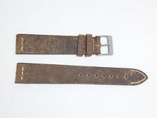 """ColaReb (Italy) Genuine Vintage Leather Watch Band 18 mm Swamp color """"SPOLETO"""""""