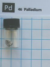 1 square cm Palladium metal foil in glass vial - Element 46 sample